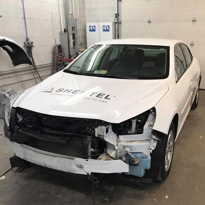autobody repair on a sedan